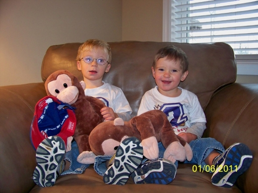 Max, Sam & the Monkey - January 2011
